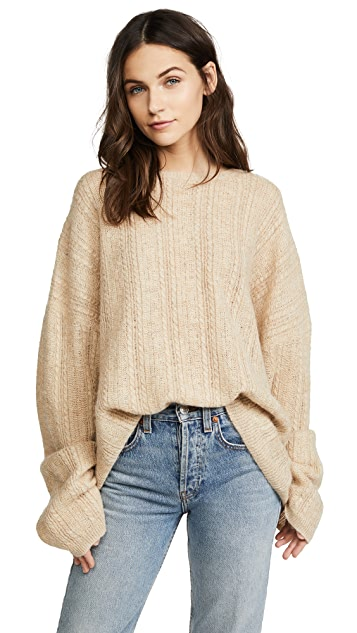 Acne Studios Theda Cable Sweater