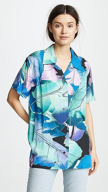Acne Studios Rellah Shirt - Lilac/Mint Leave