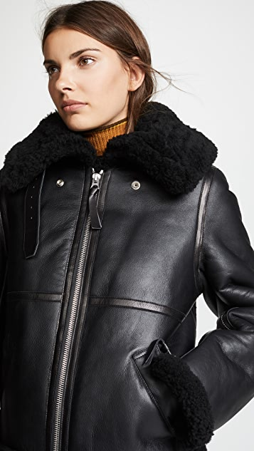 Acne Studios Shearling Leather Jacket