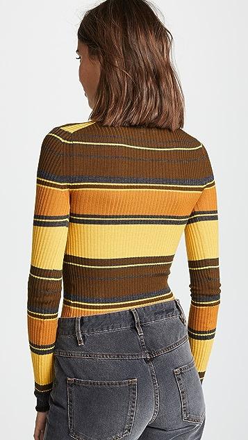 Acne Studios 条纹高领毛衣