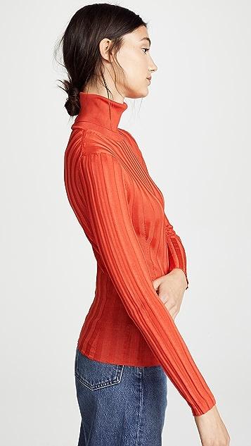 Acne Studios Ribbed Mock Neck Sweater