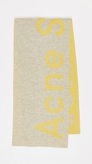 Acne Studios Toronty 徽标围巾
