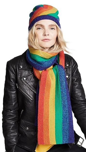 Acne Studios Rainbow Stripe Scarf