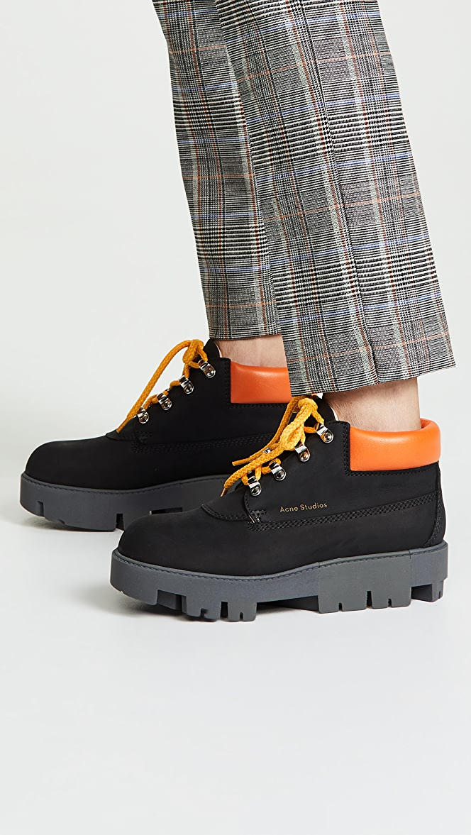 Acne Studios Tinne Contrast Hiker Boots