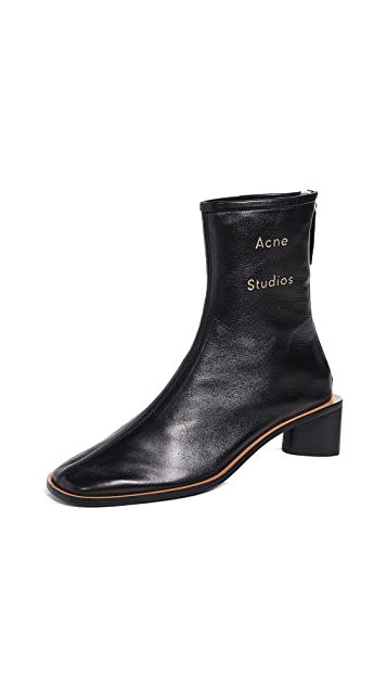 Acne Studios Branded Leather Booties