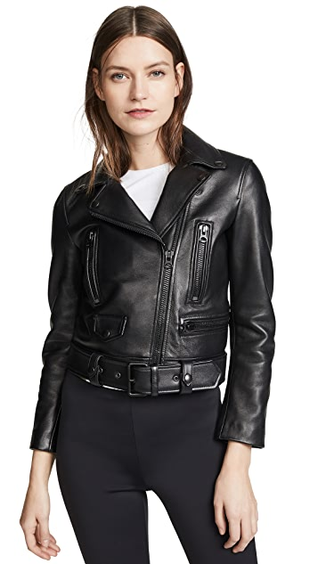 Acne Studios Leather Mock Jacket