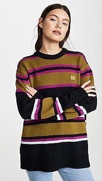 Nimah Multicolor Stripe Face Sweater