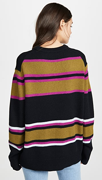 Acne Studios Nimah Multicolor Stripe Face Sweater