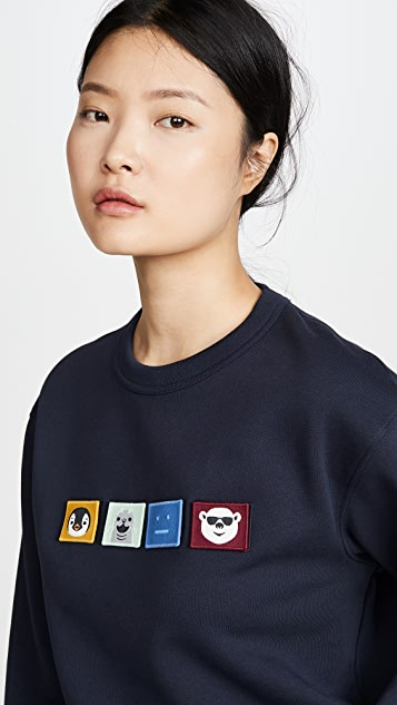 Acne Studios Толстовка Faircro Animal Face