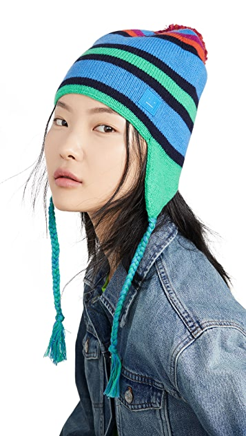 Acne Studios Multi Stripe Face Hat