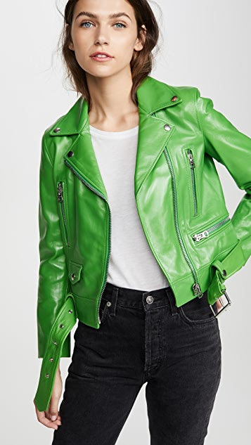 Acne Studios Mock Shiny Leather Jacket
