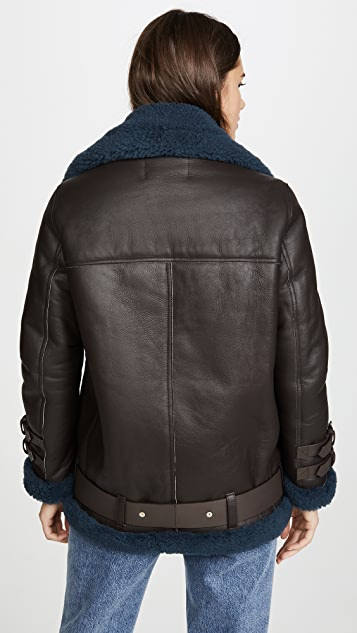 Acne Studios Velocite Leather Outerwear