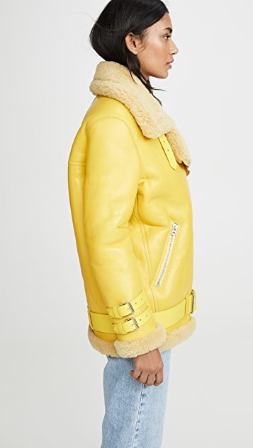 Acne Studios Velocite Shiny Leather Outerwear