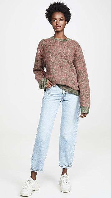 Acne Studios Трикотажный свитер Kamara из шетландской шерсти