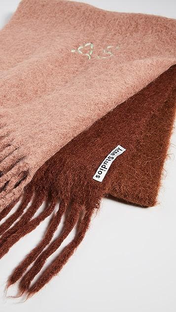 Acne Studios Kelow Dye Alpaca Scarf