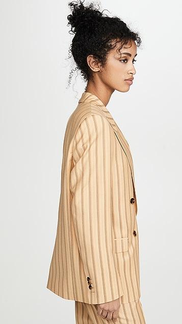 Acne Studios Janny 细条纹西装外套