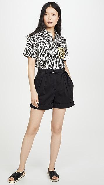Acne Studios Rowanne Cotton Twill Shorts