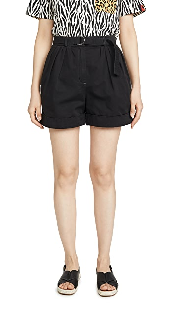 Acne Studios Rowanne 棉质斜纹短裤