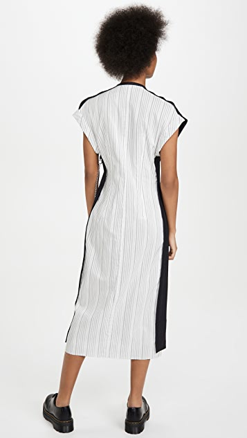 Acne Studios Di Pinstripe Dress