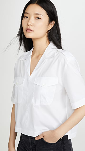 Acne Studios Stina Poplin Button Down Shirt