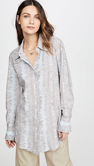 Acne Studios Esophi Allover Jacquard Button Down