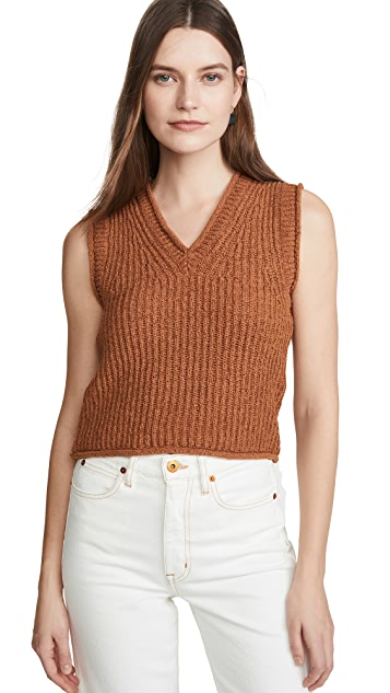 Acne Studios Kandra Rustic Cotton Sweater Vest