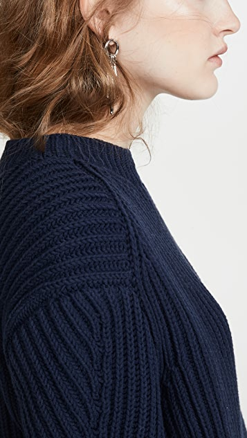 Acne Studios Хлопковый свитер Khali в рубчик