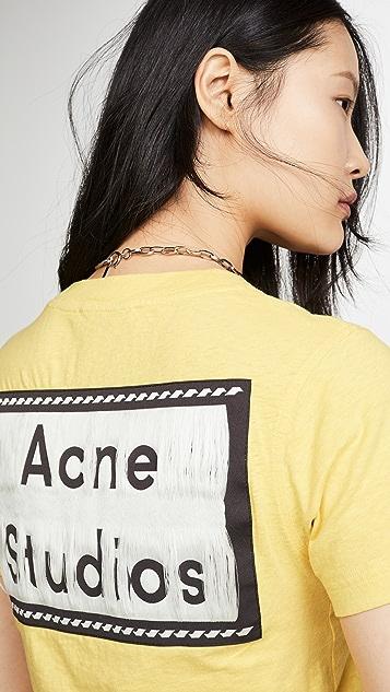 Acne Studios Ebally Reverse 翻领 T 恤