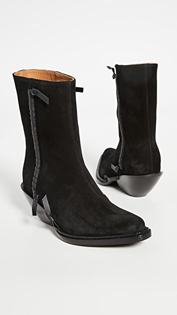 Acne Studios Suede Ankle Booties