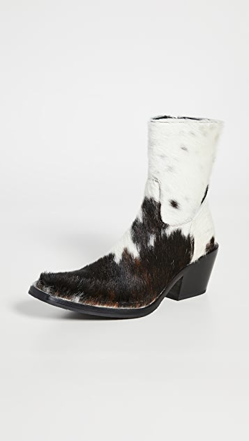 Acne Studios Calf Hair Cowboy Booties