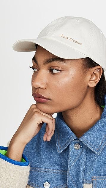 Acne Studios Caroly 棉质斜纹织物帽子