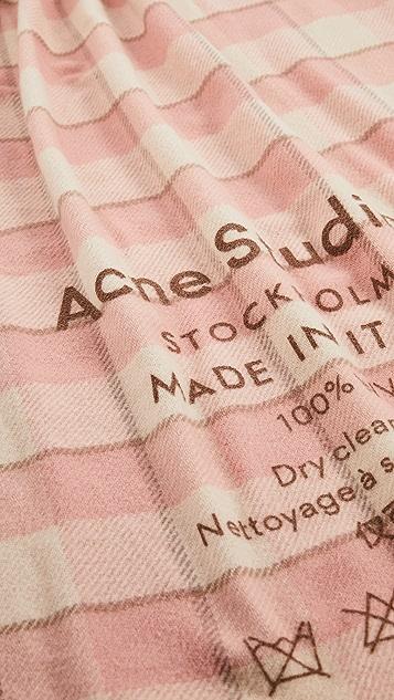 Acne Studios Cassiar 格纹围巾
