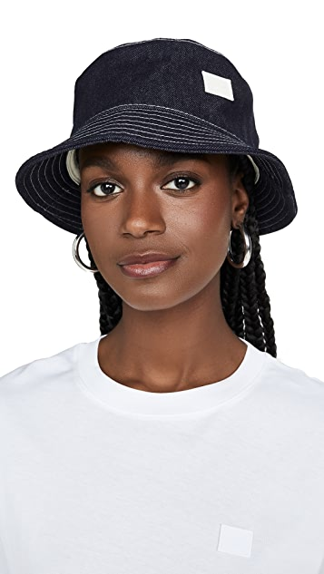 Acne Studios Raw Indigo Denim Bucket Hat