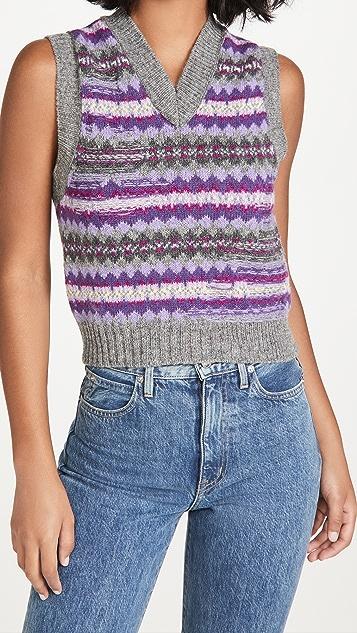 Acne Studios Korina Fair Isle Sweater