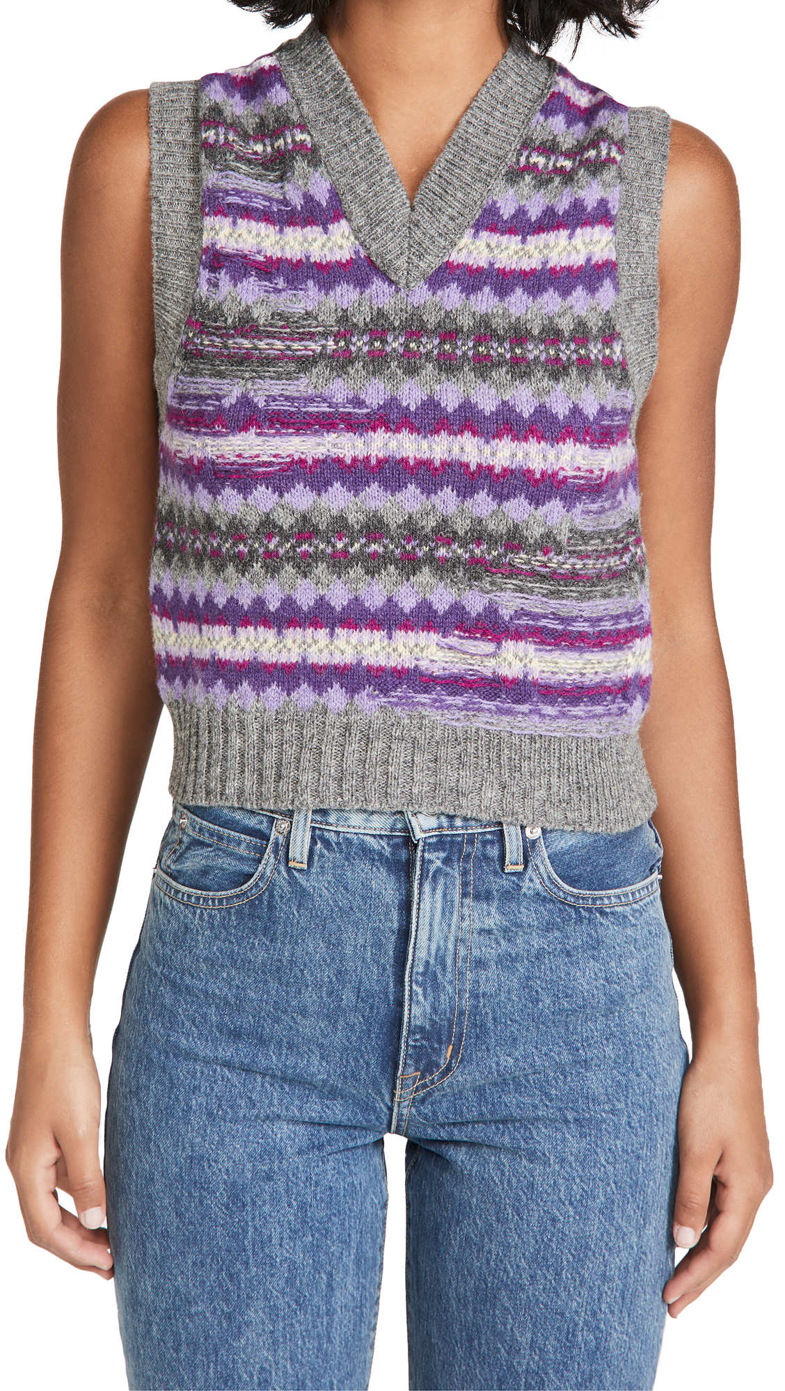 Acne Studios Korina Fair Isle Sweater