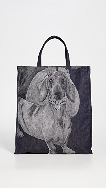 Acne Studios Audrey Denim Daschund Bag