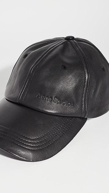 Acne Studios Carliy 皮帽子