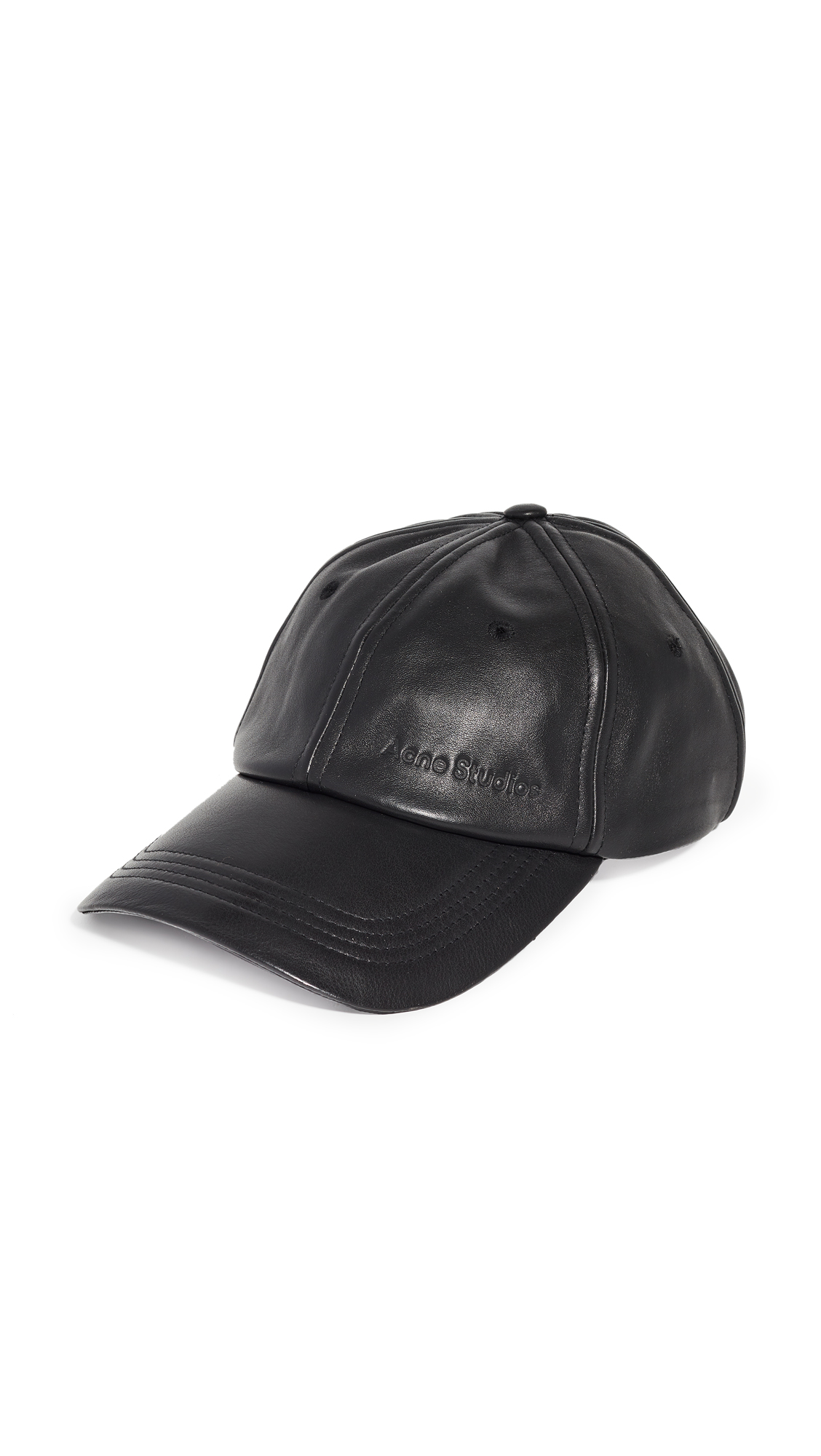 Acne Studios Carliy Leather Cap