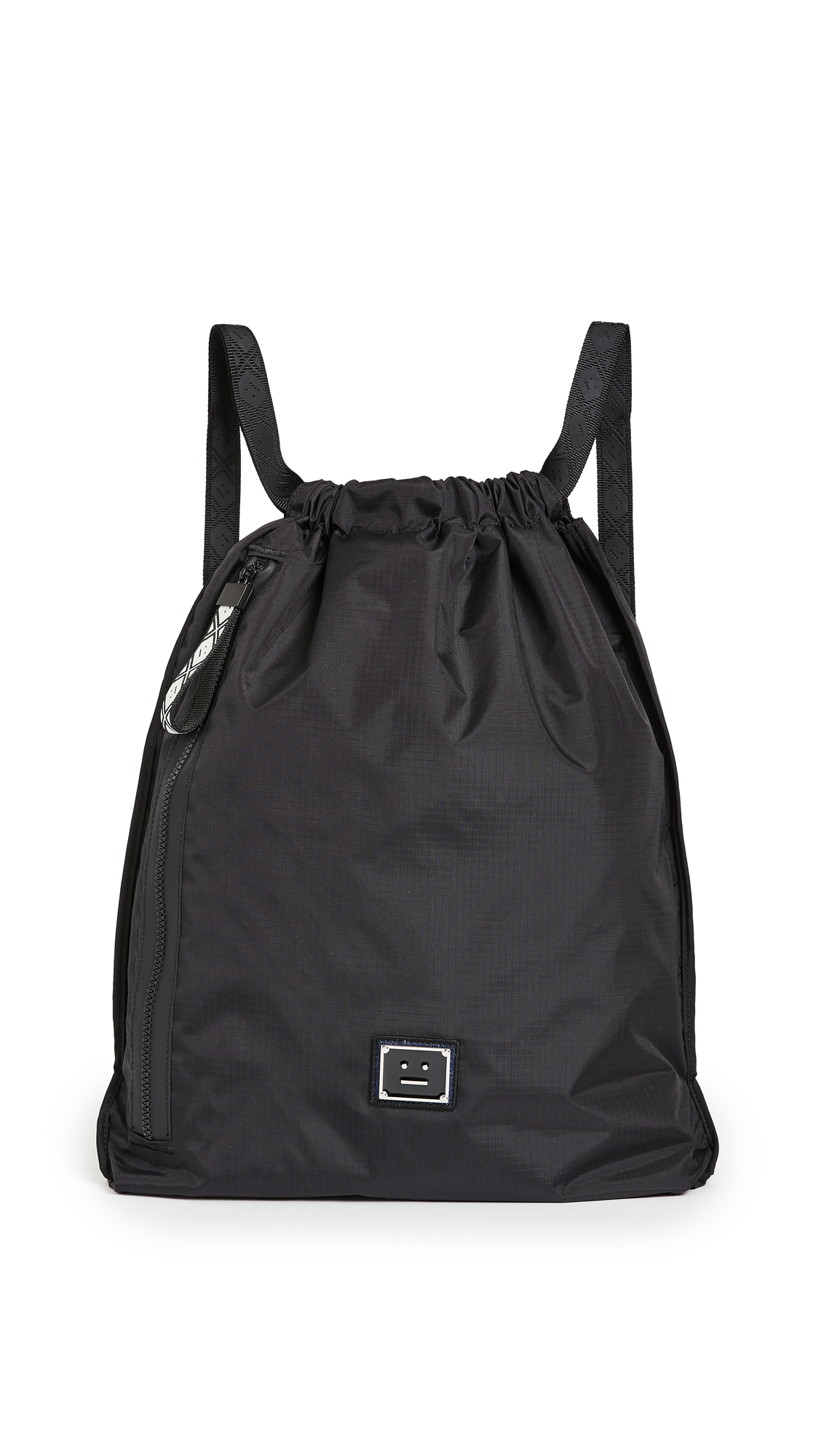 Acne Studios PLAQUE FACE DRAWSTRING BAG