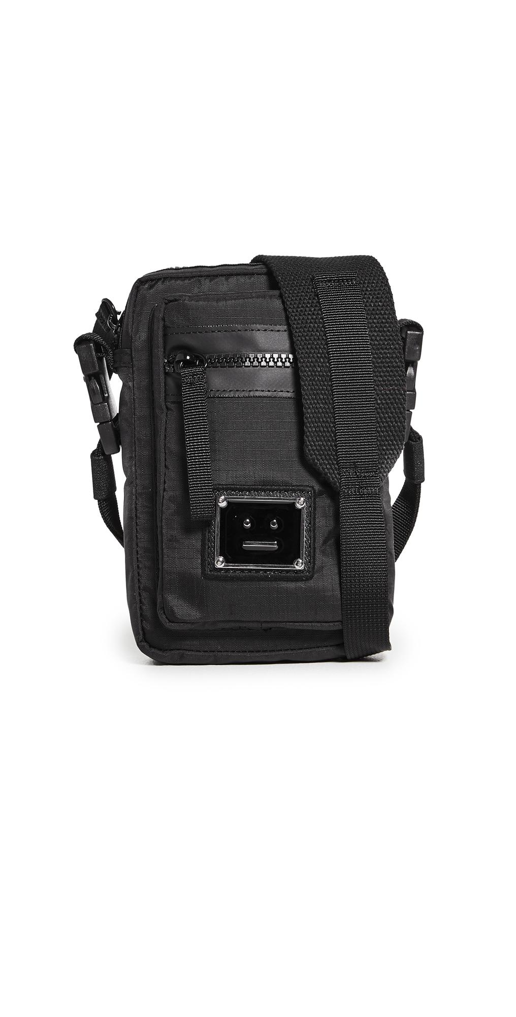Acne Studios Arvel Plaque Face Crossbody Phone Bag