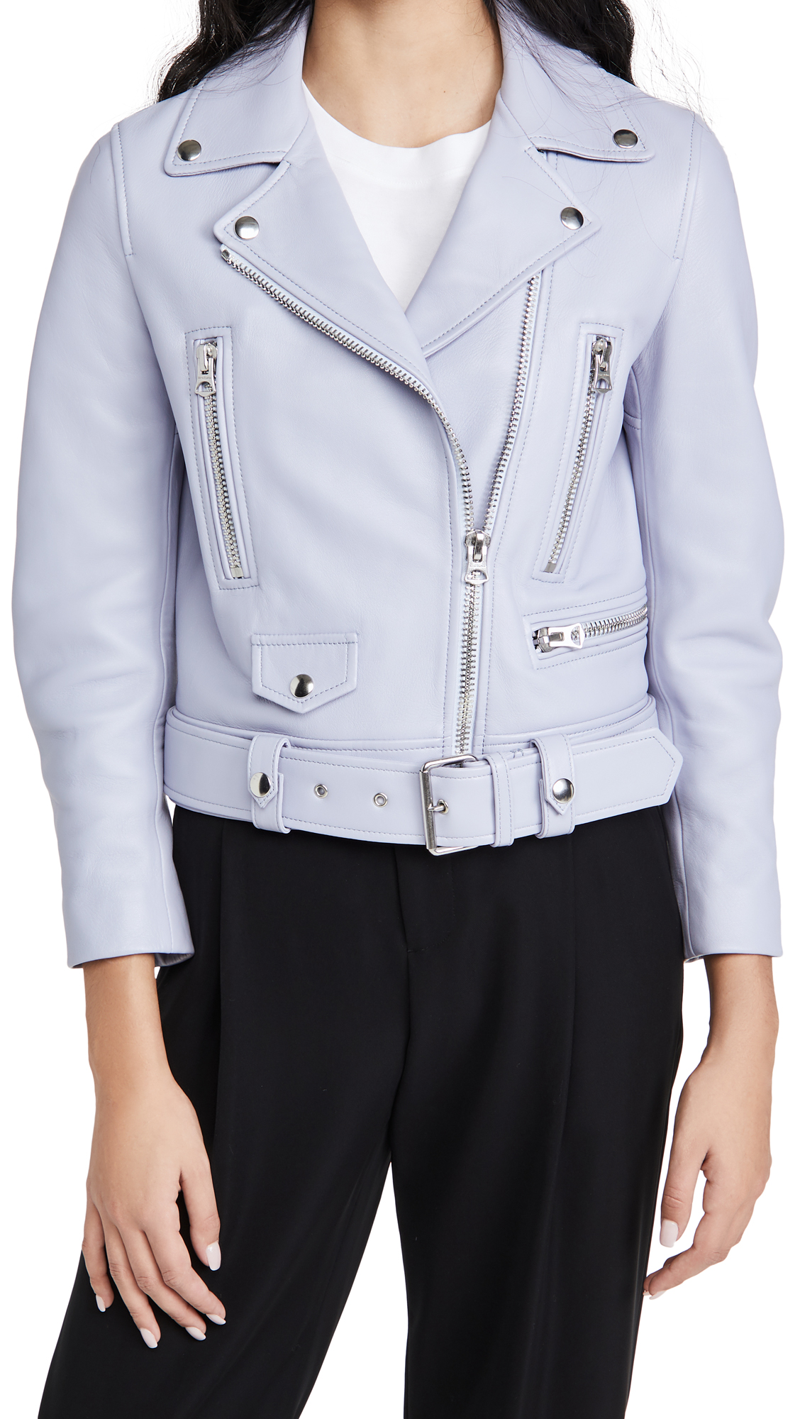 Acne Studios Cropped Biker Jacket