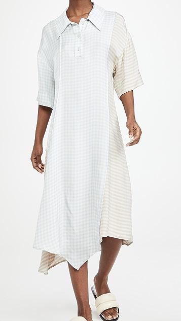 Acne Studios 格纹印花连衣裙