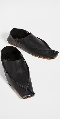 Acne Studios - 皮平底鞋