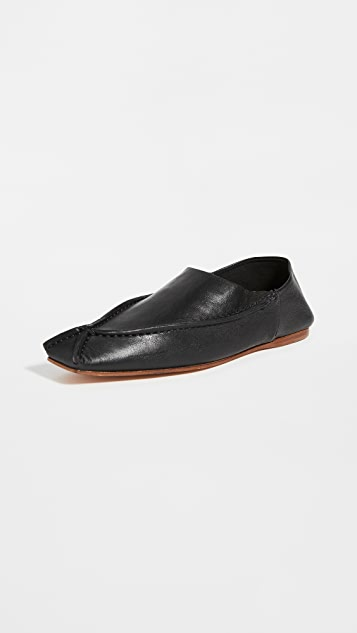 Acne Studios 皮平底鞋