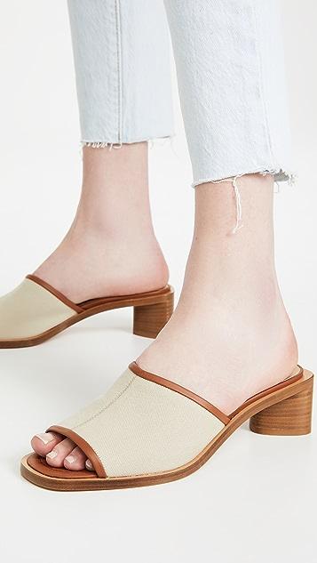 Acne Studios 双色穆勒凉鞋