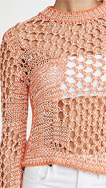 Acne Studios 渔网式长款上衣