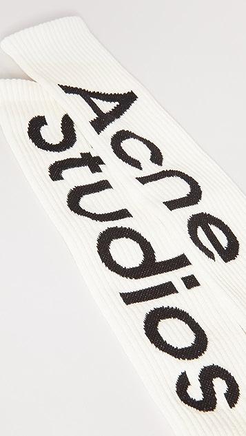 Acne Studios Branded Socks