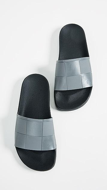 Adidas Raf Simons Adilette Checkerboard Slides