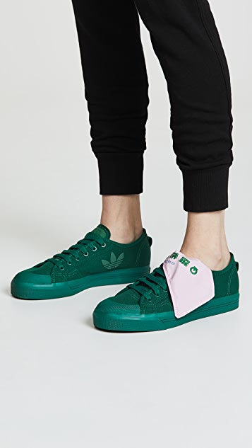 Adidas Raf Simons Spirit Low Asymmetrical Tongue Sneakers