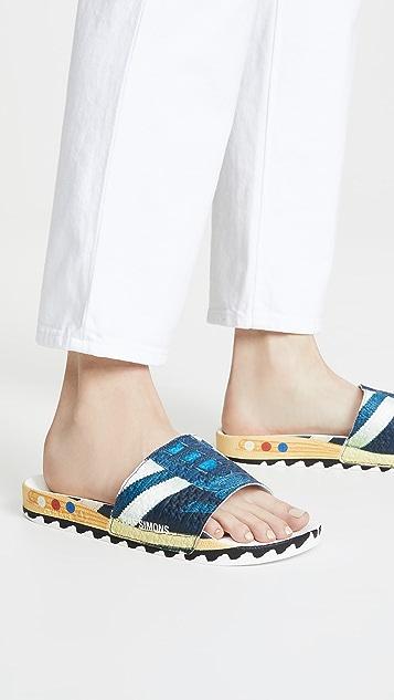 adidas Raf Simons La Adilette 凉拖鞋